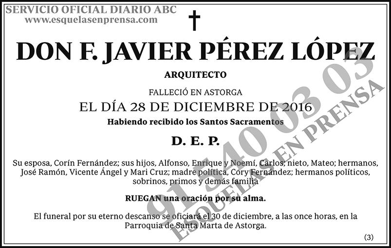 F. Javier Pérez López
